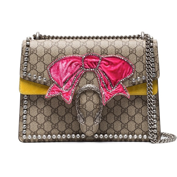 e8e3b9423d0 Gucci Dionysus Crystals with Bow Shoulder Bag